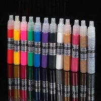 12 Colors Professional 3D Nail Art Paint Drawing Pen Acrylic Nail Polish