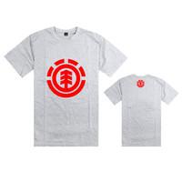 19 color brand element tree red and white logo design t shirt short sleeve t-shirt bboy skateboard tee shirt casual tshirt
