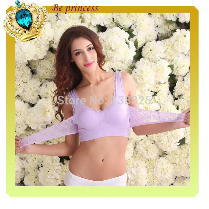 New 7 Color Women Lace Wireless Front Closure Push Up Sports Bras Yoga Padded Sports Bra Soft Underwear Soft Running Bra CM0164(China (Mainland))