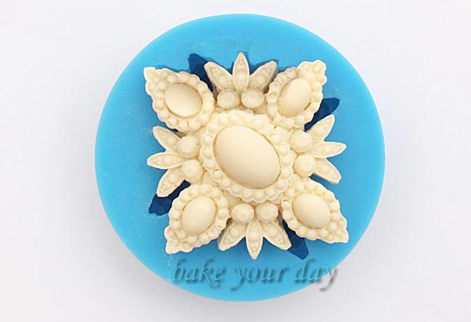 New arrival Pendant jewelry cake decoration fondant silicon mold