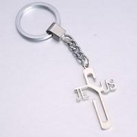 Hollow Cross Keychains For Christian Gift  Key Chains Innovative Souvenir Gadget Key Ring Various Shapes Metal Keyrings Llaveros