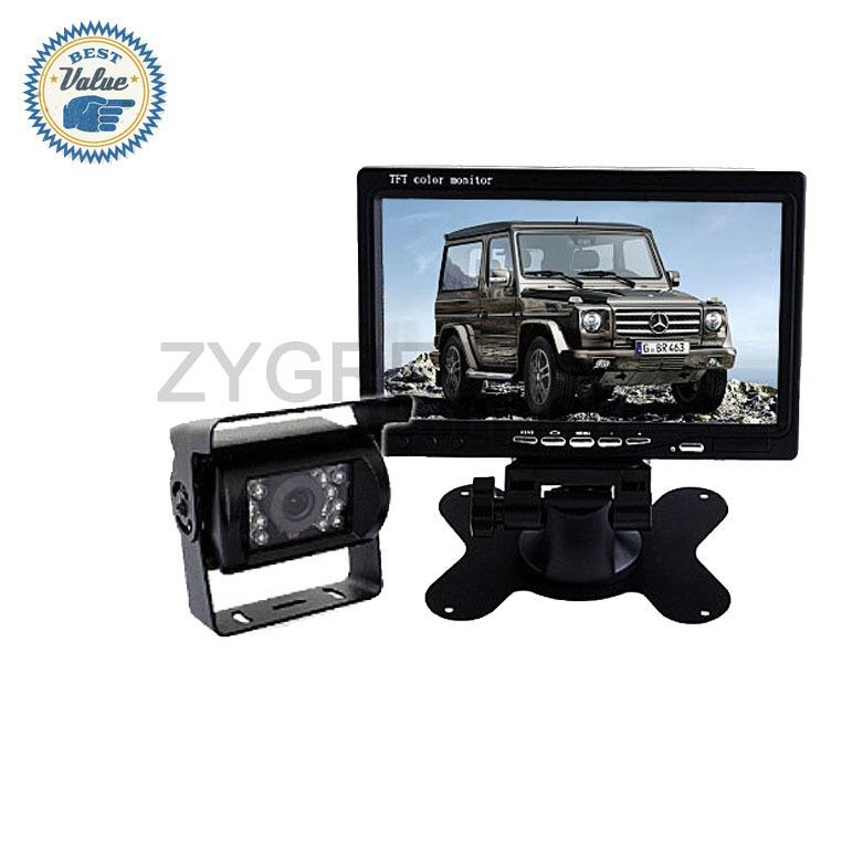 """Car Rear View System Kit Vehicle 7"""" TFT LCD Rear View Monitor & 420TVL CCD Night Vision Rear View Color Camera(China (Mainland))"""