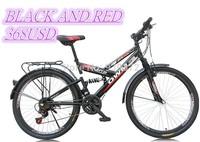 Mountain bike spring suspension damping mountain bike 26 inch road car disc brake speed bike change students bike Free shipping