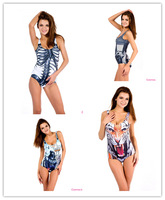 One Piece 2014Summer Swimwear Casual Swimsuits Sexy Beachwear Tiger Print Gift For Women Lady Girl Female 396-2