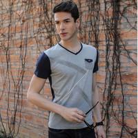 2014 summer V neck mens t shirts fashion camisa polo masculina ralph  casual shirt undershirt clothing man t-shirts clothing