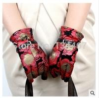 2014 the newest winter  fashion brand high quality thick warm sheepskin woolen women's gloves 078
