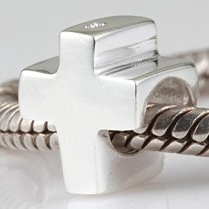 925 стерлингового серебра Европейский стиль diy бисер Серебряный крест fit лучшие подарки браслет шармы Пандора