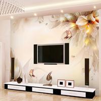 Tv background wall paper non-woven 3d wallpaper mural Customize any size murals papel de parede photo wallpaper roll butterflies