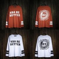 Free shipping 2014 Hood By Air HBA HBA BE BETTER 02 Men clothing KTZ Pyrex Vision kanye west hiphop mens long sleeve t-shirt