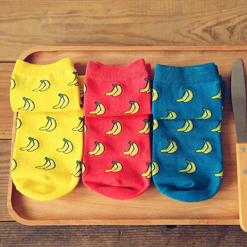 2 Pairs Banana Sock Fashion Brand Cotton Jacquard Socks for Women and Men Winter Casual Socks 10300(China (Mainland))