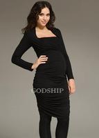 Autumn and winter fashion maternity nursing one-piece dress rayon teethe postpartum knitted short skirt