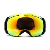 high quality  double layer anti-fog skiing snow goggle  myopia optical glasses compatible UV protection anti-dazzle snow goggle