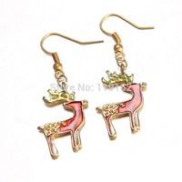 2014 NEW Fashion jewelry earring christmas earrings santa dangle earring plating gold Party Jewelry earrings for women jeweley