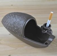 Yixing Zisha ceramic ashtray personality fashion European style of the ancient large gifts of fishing boats
