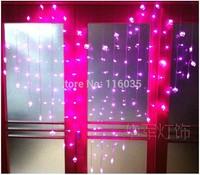 128 LED String of Light 1.5M Wedding Supplies Door Window Decoration Lamp Love Shaped LED Curtain Lights String Christmas Lights