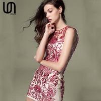 2014 female fashion ladies dreess organza red gauze embroidery one-piece dress formal dress X1Q64