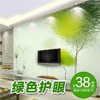 Any Size 3D Photo Wallpaper Mural Modern papel de parede roll  Tv background wall paper Custom size romantic green treetapete