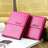New fashion lady wallet rose Tote PU Leather Clutch cute girl wallets Handmade bag credit card holder Purse free shipping