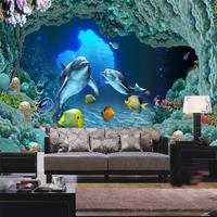 Ocean children room mural 3D personalized wallpaper background painting paper anysize mural papel de parede photo wallpaper roll