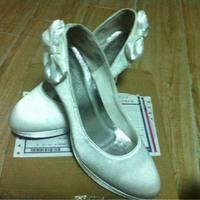 wholesale free shipping fashion White wedding bride bowtie platform women party shoes 39