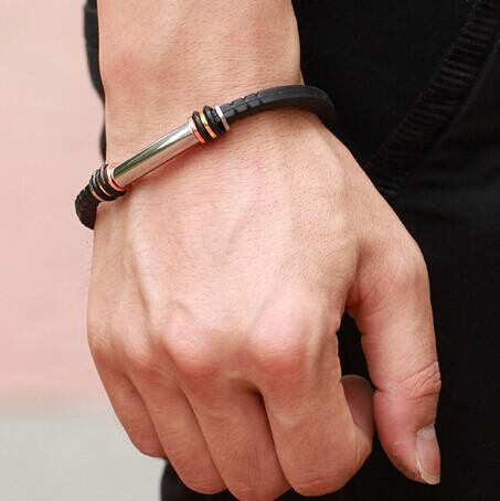 известный бренд мужчин браслет из нержавеющей