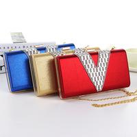 Amazing new sale diamond suede evening bags women chains shoulder handbags ,party wedding clutches , messenger bags