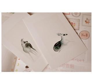 Free shipping vintage illustrator Deer  postcard 18pcs/lot Greeting card/wishes card/ wedding card/Christmas Cards /gift(China (Mainland))