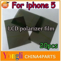 20pcs/lot For Apple iPhone 5 5G 5S 5c lcd screen polarized film / lcd screen film thick screen polarized film Free shipping