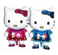 Super cheap recommendation birthday party decoration hello kitty 85CM large foil balloons wholesale KT cat