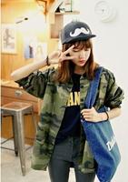 2014 spring preppy style Camouflage women's shirt women shirt