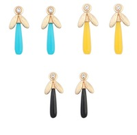 Wholesales 2014 New Fashion Lovely Colors Alloy Candy colored simple Earrings Jewelry Accessories For Women