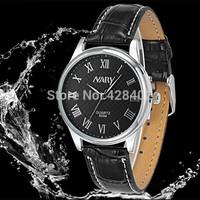Roman Characters PU Leather Belt Couple Watch Original Movement Waterproof Shockproof Antimagnetic Personalized Quartzes Watch