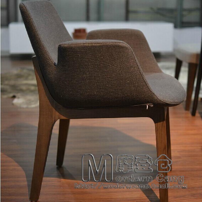 современный склад древесины столовая стулья обеденной стулья poliform Вентура исследование кресло кресло Стул