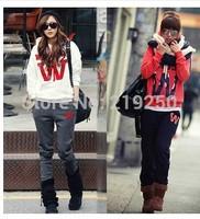 2014 new fashion hot Korean women leisure suit letter sweater