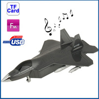 Wholesale Time-limited Real Metal New 2014 Mini Speaker Portable Loudspeakers The F22 Raptor Combat Aircraft Card Usb Mp3 Player