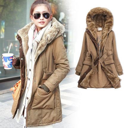 Женские пуховики, Куртки 2014 coat LY1505 women coat женские пуховики куртки women long coat 2015 women coat