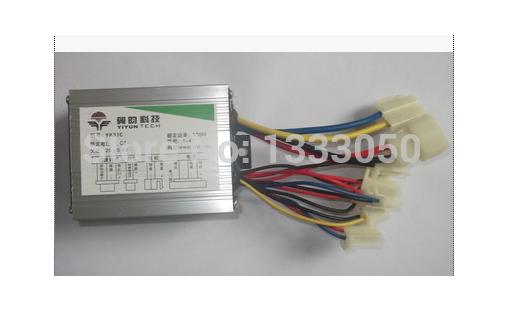 Free Shipping 500W DC 24V/36V/48V brush motor speed controller, speed control, electric bicycle controller(China (Mainland))