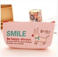 Min Order $15(mixed order) cartoon   Animal pie  lovely canvas  Pen bag  Pen shade  4136YX