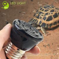 Free Shipping 4 pcs/lot 20W/40W/60W/80W/100W Far infrared Heated Lamp 4.9*5cm Mini Ceramic pet light designed for Reptiles