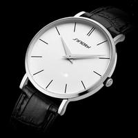 Fashion Brand Sinobi Men Quartz Watches With Leather Strap Men Dress Business Wristwatch Male Clock Men Csual Sports Watches