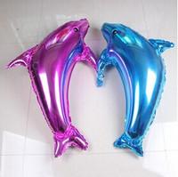 Free shipping! Big dolphin balloon cartoon balloon balloon wholesale balloon animals --1 m Dolphins
