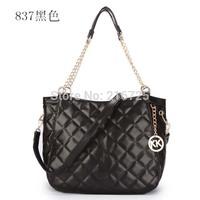 2014 free shipping brand name goatskin leather bags fashion designer PU  woman handbag PU woman tote
