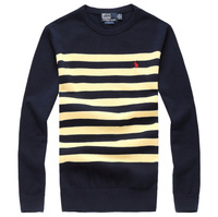 The man spring and autumn winter / male warm clothes / embroidery logo, cotton fabrics, men's sweater 2014 fashion 2 color