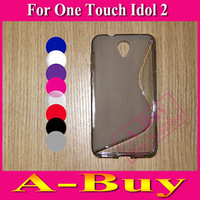 1 X S Line Soft TPU Case Cover For Alcatel One Touch Idol 2 OT 6037 6037Y 6037B 6037K