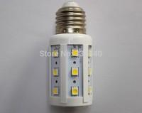 SMT hot 24pcs SMD5050 5W LED Bulb lamp E27  Corn light AC220V Warm White FREE SHIPPING