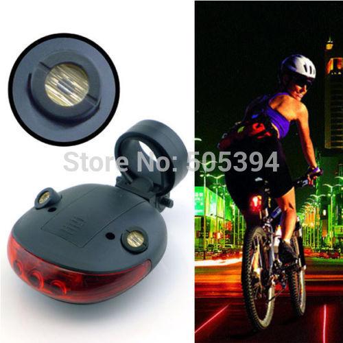2 Laser + 5 LED Cycling Bicycle Bike Taillight Warning Lamp Flashing Alarm Light(China (Mainland))
