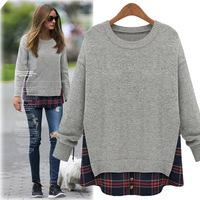 20014 Autumn, Plus Size Loose Fit Ladies Knitwear, Women Pullover M-5XL