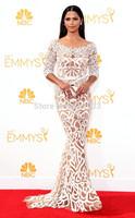 Sexy Mermaid Vestidoe de Fiesta Scoop Long sleeve evening dresses 66th Emmy Award Celebrity dresses prom dress custom size WC07
