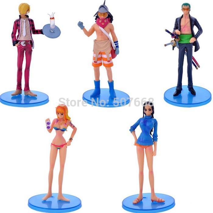 "Anime One Piece After 2 Years Zoro Usopp Robin Sanji Naimi cool PVC Action Figures Model Toys Dolls 6"" 14cm 8set/lot 5pcs/set(China (Mainland))"