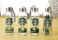 Starbucks creative glass cup student travel mug 300ML